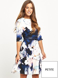 little-mistress-petite-skater-dress-floral-print