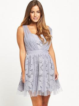 Little Mistress Petite Mini Dress  Lavender