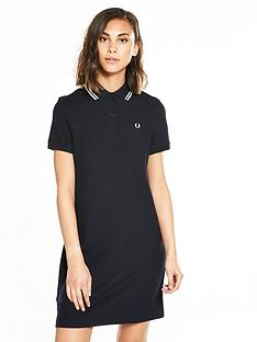 fred-perry-mesh-cuff-pique-dress