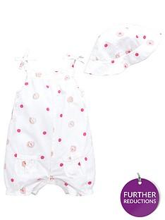 ladybird-baby-girls-ladybird-aop-woven-romper-and-sunhat-set