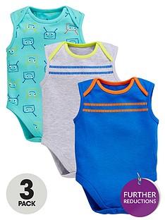 ladybird-baby-boys-3pk-bug-and-stripe-sleeveless-bodysuits