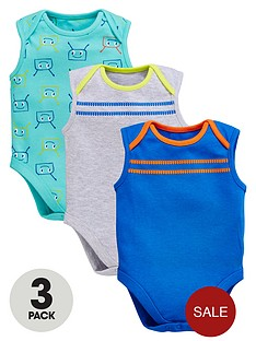 ladybird-baby-boys-3pk-bug-and-stripe-sleeveless-bodysuits