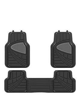 Streetwize Accessories Streetwize Accessories Premium Deluxe Black Car Mat  ... Picture