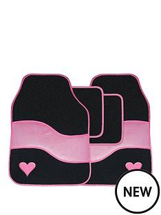 streetwize-accessories-velour-pink-with-heart-motif-car-mat