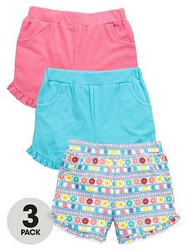 Mini V By Very Toddler Girls Frill Hem Shorts (3 Pack)