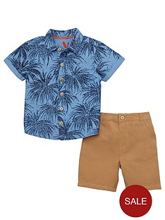 mini-v-by-very-boys-palm-print-shirt-amp-chino-set