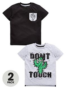 mini-v-by-very-toddler-boys-2pk-donrsquot-touch-cactus-tshirts