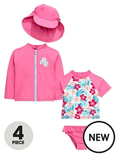 mini-v-by-very-toddler-girls-4-piece-hawiian-floral-sunsafe
