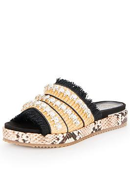 Kg Melba Animal Print Slider Sandals