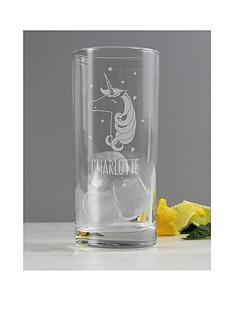 personalised-unicorn-glass
