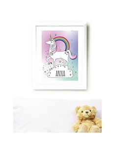 personalised-unicorn-poster