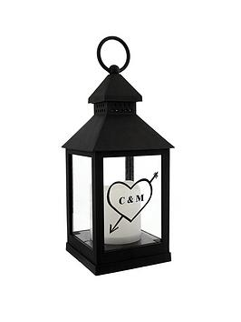 Personalised Heart Initials Lantern