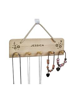 personalised-wooden-jewellery-hanger