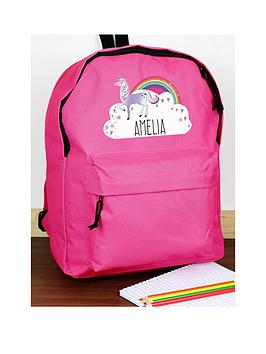 Very Personalised Unicorn Backpack Picture