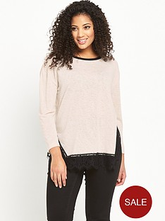 v-by-very-curve-lace-trim-long-sleeve-top-oatmeal