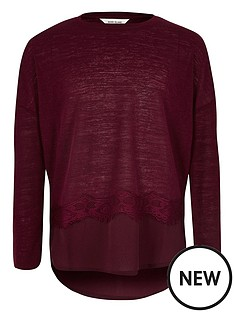 river-island-lace-trim-slouch-top