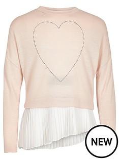 river-island-girls-blush-heart-asymmetric-pleated-top