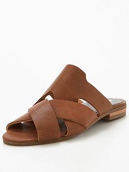 Hudson London Hudson Lonatu Leather Flat Mule Sandal