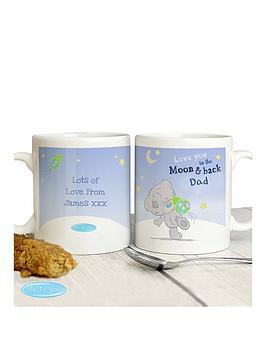 Tiny Tatty Teddy Tiny Tatty Teddy Blue Moon &Amp Back Mug