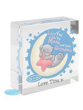 Tiny Tatty Teddy Tiny Tatty Teddy Pink Moon &Amp Back Crystal Block