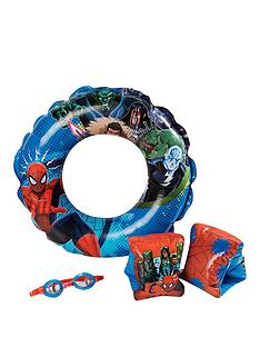 spiderman-spiderman-swim-ring-arm-bands-and-goggles