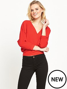 river-island-batwing-top-red
