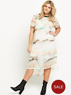 ri-plus-marble-print-dress-white