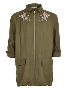 river-island-girls-khaki-embroidered-shacket