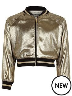 river-island-girls-metallic-khaki-cropped-bomber-jacket