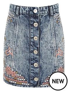 river-island-embroidered-denim-skirt
