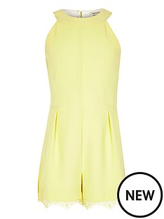 river-island-girls-yellow-lace-hem-playsuit