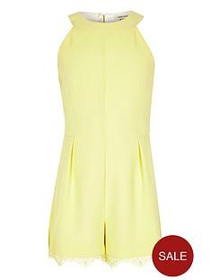 river-island-girls-yellow-lace-hem-playsuit