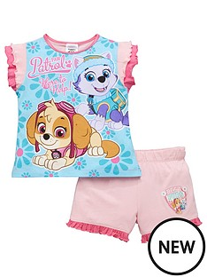 paw-patrol-paw-patrol-girls-shorty-pyjamas