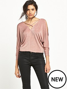 river-island-river-island-long-sleeve-pink-batwing-top
