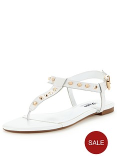 dune-laciee-studded-flat-sandal