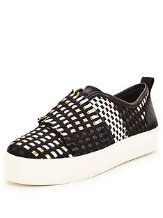 carvela-leave-textured-plimsoll