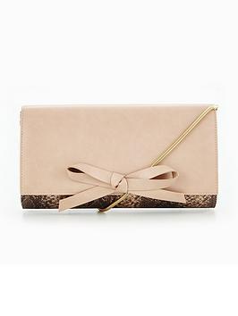 Miss Kg Bow Clutch Bag