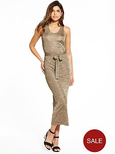 v-by-very-metallic-tie-waist-midi-dress