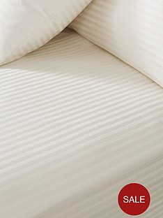 Hotel Collection Luxury 300 Thread Count Soft Touch Satten Stripe 32cm Deep Ed Sheet Sk