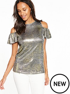 v-by-very-metallic-cold-shoulder-top
