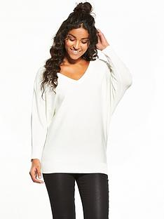 v-by-very-v-neck-batwing-jumper-ivory