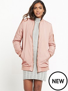 miss-selfridge-blush-longline-ma1-bomber