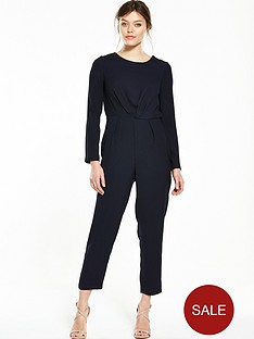 miss-selfridge-tie-back-jumpsuit-navy
