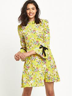 miss-selfridge-floral-collar-dress