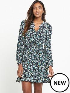 miss-selfridge-floral-wrap-ruffle-dress