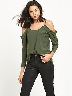 miss-selfridge-lattice-back-slinky-long-sleeve-top