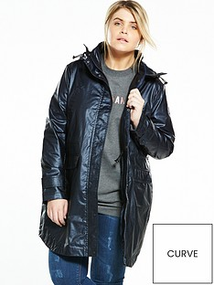v-by-very-curve-curve-waxed-metallic-lightweight-parker-navy