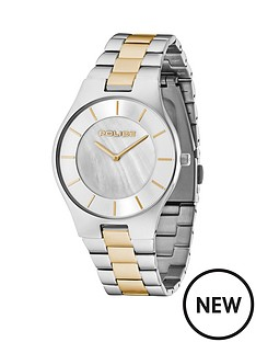 police-splendor-two-tone-stainless-steel-bracelet-mens-watch