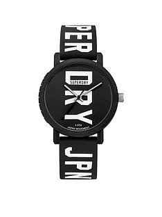 superdry-superdry-campus-block-black-dial-black-logo-printed-silicone-strap-watch