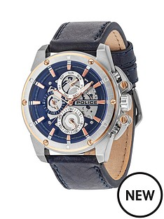 police-splinter-blue-multi-dial-blue-leather-strap-mens-watch
